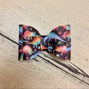 🌟$5 ADD ON!🌟Dinosaur double bow hair clip